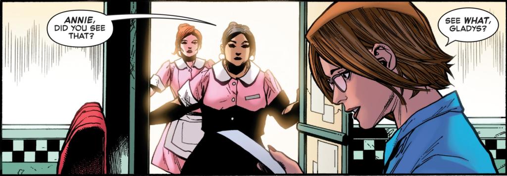 Annie, dona do restaurante em que Jean trabalha.
